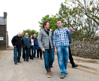 The Dairy Farmers welcome Tom Kitchin.